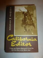CALIFORNIA EDITOR--THOMAS M STOCKER--EARL WARREN--HC 1966 Signed 3rd Ed. B213
