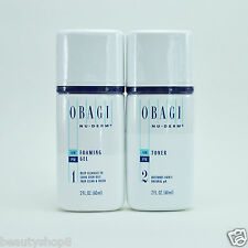 Obagi Nu-Derm Kit of 2, Normal to Oily Skin: Foaming Gel + Toner, TRAVEL SIZE