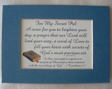 SECRET PAL Christian FRIEND Love PRAYERS God's Precious Art Verses Poems Plaques