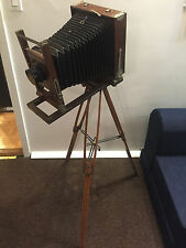 Antique Wood Gundlach Camera Tripod Rokuoh-sha Tokyo Hexar Lens, Burke & James