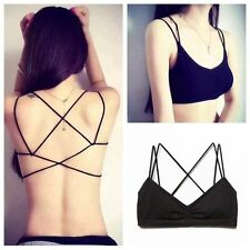 Sexy Women Cut-Out Bra Crop Bustier Bralette Corset Tops Tank Top Blouse Strappy