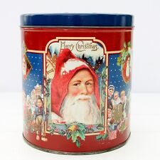 Vintage Christmas Bakers Estate Cookies Biscuits Tin