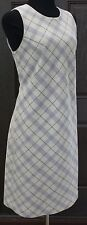 Willi Smith Petite Multi-Color Sleeveless Plaid Dress SZ 10P Made in Italy