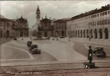 CARTOLINA TORINO - PIAZZA S. CARLO_NON VIAGGIATA_SERIE CENTENARIO 1948_AUTO FIAT