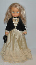 vintage REGAL DOLL 17.5 inch Tall  Canada Victorian Dress 1970s -rj