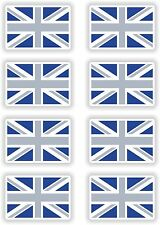 Great Britain British Flag 8x Grey / Blue Stickers Sticker Union Jack Skateboard