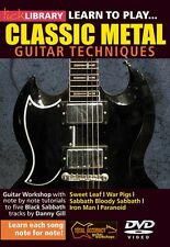Learn to Play Classic Metal Lick Library DVD NEW 000393034