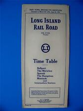 June 20, 1954 Long Island Rail Road Time Table NYC to Montauk