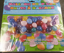 """BALLOON DROP BAG 80""""  x 36""""  CLEAR BAG HOLDS 70 TO 150 BALLOONS"""