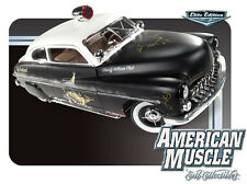 ERTL AMERICA MUSCLE 1:18 1949 MERCURY COUPE RAT ROD POLICE 1 OF 700 MADE BLK WHT