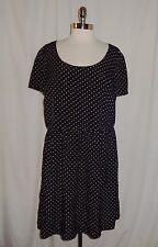 FOREVER 21 + Plus Size 3X Dress Black Pink Polka Dots