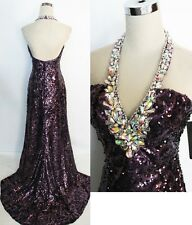 NWT NIGHT MOVES $398 Purple Pageant Formal Prom Gown 6