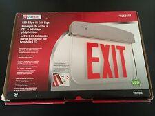 Utilitech LED edge Lit Exit Sign Red Lettering Universal Mounting Plate