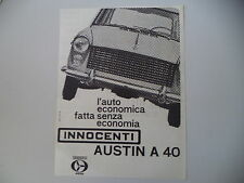 advertising Pubblicità 1961 INNOCENTI AUSTIN A 40 A40