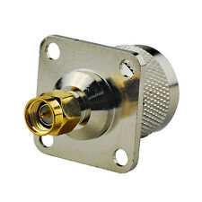 SMA Male to N-Type Plug Male flange 4 Hole panel mount adapter connector;25*25mm