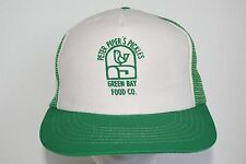 Vintage Peter Piper's Pickles Green Bay Food Company Mesh Trucker Cap Snapback