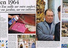 Publicité Advertising 026 1964 Fly-Tox veille sur votre confort (2 pages)