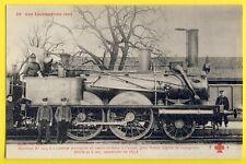 cpa LOCOMOTIVE JUNON de 1857 pour TRAIN Leger Chef de Gare Cheminots Railway