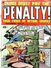 CRIME MUST PAY THE PENALTY COMICS GOLDEN AGE PDF ON CD