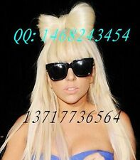 0141 lady gaga wig long straight hair wig fashion bow