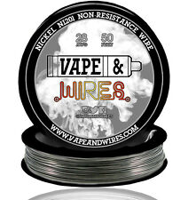 Vape & Wires Pure Nickel 201 Ni201 NON RESISTANCE 28 Gauge AWG 50ft Black Spool