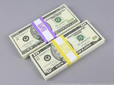 THE BEST PROP MONEY $3,000 of $20 & $10 Full Print Stack for Movie, TV, Video