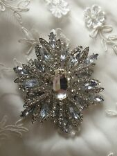 Large Wedding Dress Cake Bouquet Accessories Crystal Diamante Brooch