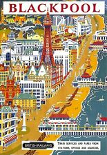 Art Print  Blackpool  Railway Travel   Poster