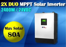 3kva 2400w solar inverter pure sine + 80A mppt solar charger+60a battery charger