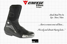 NEW DAINESE AXIAL PRO IN MOTOGP RACE BOOTS BLACK SIZE US 13 EU 47 - 305 mm