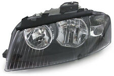 Black clear finish Left side headlight front light for Audi A3 8P 03-08