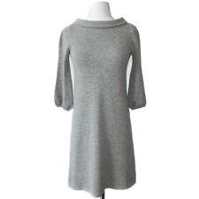 J. CREW COLLECTION Grey Cashmere Boat Neck Sweater Dress Sz XS