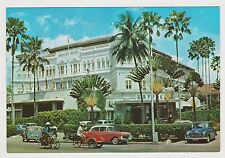 SINGAPORE - Raffles Hotel, historical postcard, matching definitive stamp (PC40)