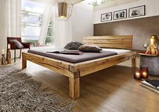 Balkenbett Bett Doppelbett 180x200cm Wildeiche Eiche Holz massiv geölt NEU OVP!!