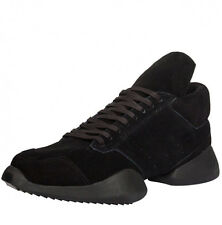 New RICK OWENS Runner Sneaker x adidas 11.5 US; 11 UK Vicious Black Suede RUNWAY