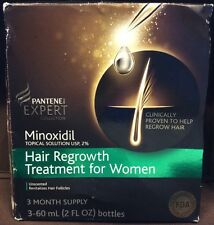Pantene Expert Minoxidil Hair Regrowth Treatment For Women 3 Month Supply 2oz