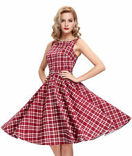 BILLIG Damen Ladys Vintage Stil 1950er Abend Party Swing Skater Nachmittagskleid