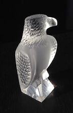 LALIQUE FROSTED CRYSTAL FALCON SIGNED~Lalique France
