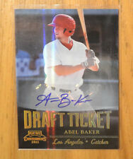 Abel Baker 2011 Playoff Contenders Draft Ticket Auto Autograph