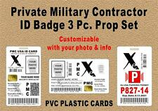 Xe BLACKWATER ID Badge / Wallet Card / Parking PROP 3 pc. Set - PMC Xe ID - PVC