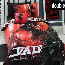 NEW STAR WARS DARTH VADER DOUBLE BED BLACK RED DOONA QUILT COVER + PILLOWCASE