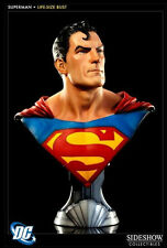 DC COMICS SUPERMAN Life Size Resin Bust HUGE 1/1 SCALE by SIDESHOW COLLECTIBLES