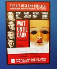 THEATRE FLYER WAIT UNTIL DARK SIGNED BY MICHAEL MEDWIN [ THE ARMY GAME ]