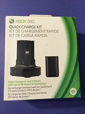 XBOX 360 Quick Charge Kit Charging Dock + Rechargeable Battery Pack NEW