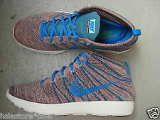 NIKE AIR LUNAR FLYKNIT CHUKKA 44.5 Brave Blue/PHOTO BLUE/minerale Teal/GREEN GLOW