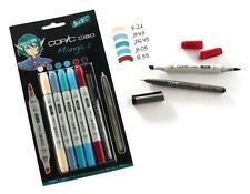 COPIC CIAO MARKER - 6 PEN SET - MANGA 2 SET - TWIN TIPPED