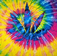 POT LEAF TYE DYED TEE SHIRT mens womens SIZE SMALL hippie tie dye tees NEW SWIRL