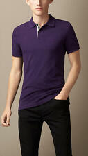 Burberry Brit Men Casual Short Sleeve Nova Polo Shirt Dark Royal Purple L Large