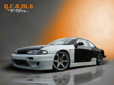 Nissan 200sx S14 S14A Rocket Bunny Style Side Skirts for Body Kit, Racing v4