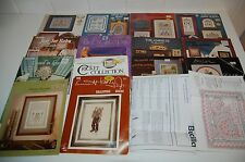 Lot of 16 CROSS STITCH PATTERNS Booklets Country Baby Kids Projects